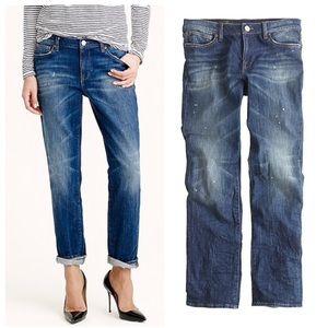 J. Crew Broken In Boyfriend Distressed Jeans